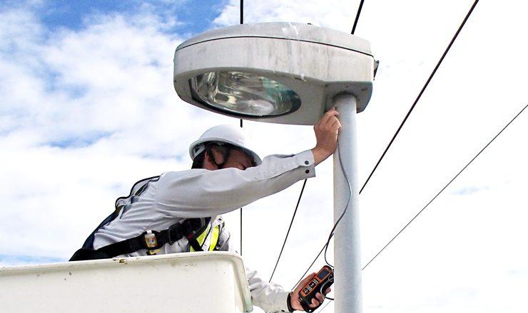道路照明灯保守点検