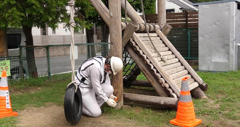 木製遊具腐食測定